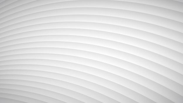 Sfondo astratto di strisce curve ondulate con ombre nei colori bianco e grigio