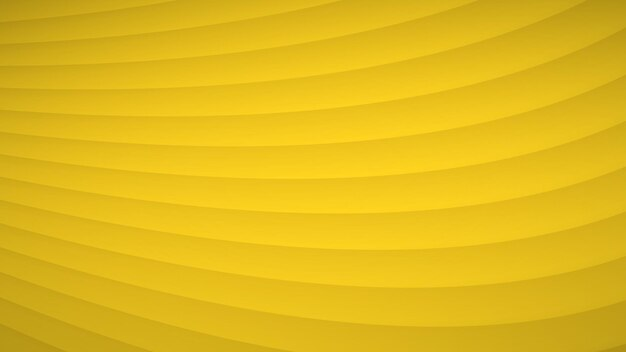 Sfondo astratto di strisce curve ondulate con ombre in colori gialli