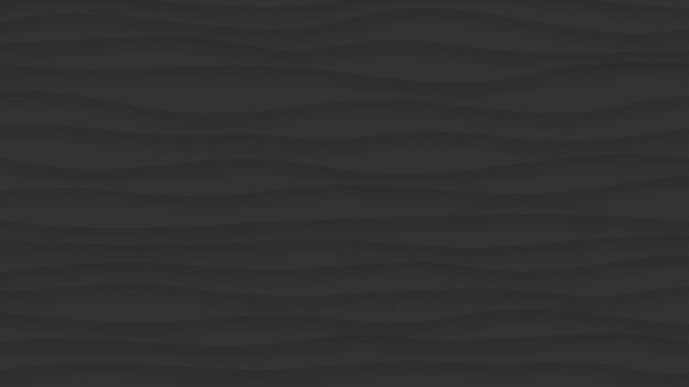 Sfondo astratto di linee ondulate con ombre in colori neri