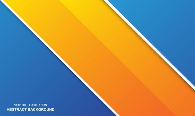 Sfondo astratto bianco bianco arancione e blu colore