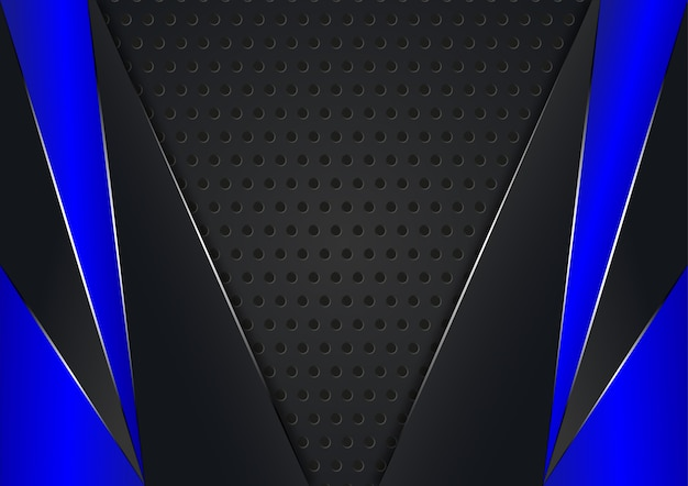 Sfondo astratto con colore nero e blu