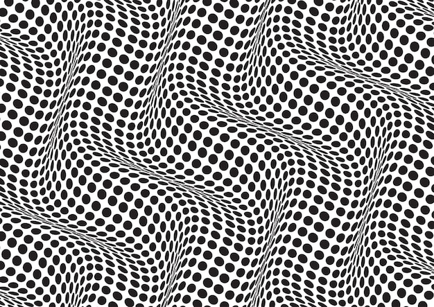 Sfondo astratto con un'illusione ottica in bianco e nero