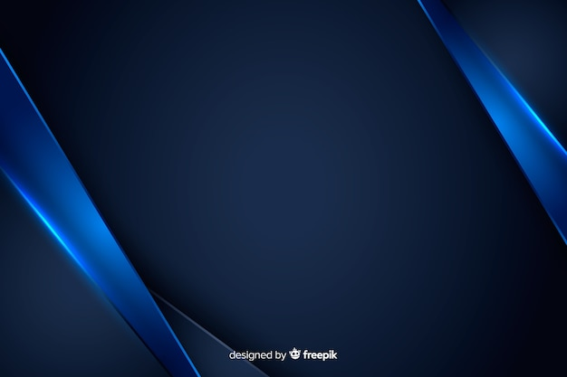 Sfondo astratto con forme metalliche blu