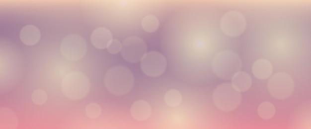Sfondo astratto con effetto luce bokeh di sfocatura. sfondo chiaro sfocatura circolare colorato moderno. illustrazione vettoriale