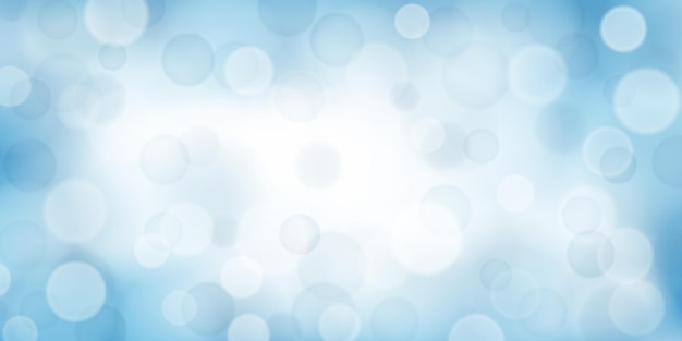 Sfondo astratto con effetti bokeh in colori azzurro chiaro