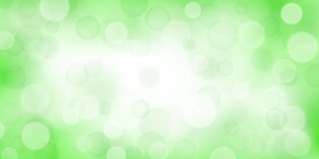 Sfondo astratto con effetti bokeh in colori verde chiaro