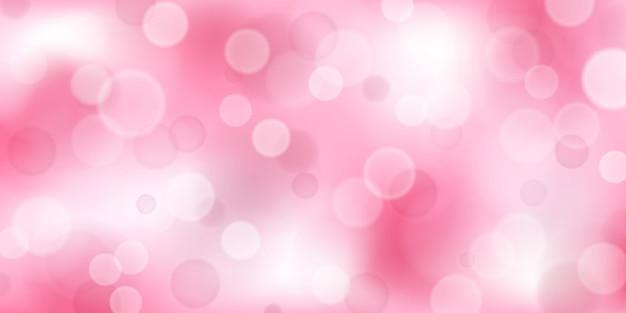 Sfondo astratto con effetti bokeh in colori rosa
