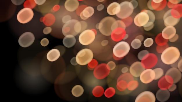 Sfondo astratto con effetti bokeh nei colori rosso e beige