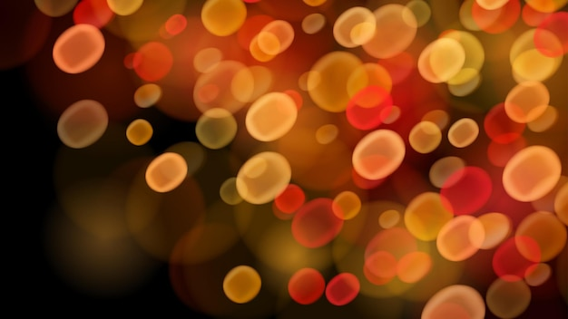 Sfondo astratto con effetti bokeh nei colori rosso e giallo