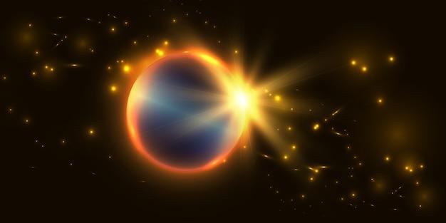 Sfondo astratto con effetti di luce intensa per l'illustrazione vettoriale