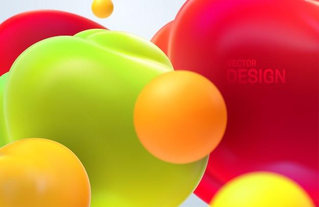 Sfondo astratto con bolle traslucide fluenti colorate