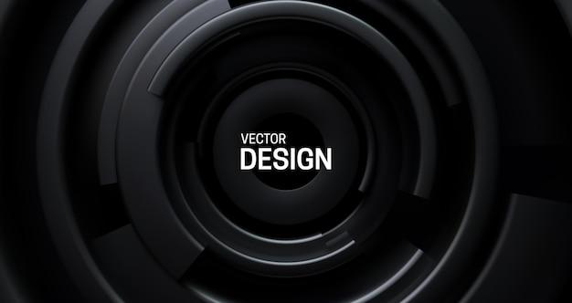 Sfondo astratto con forme nere concentriche