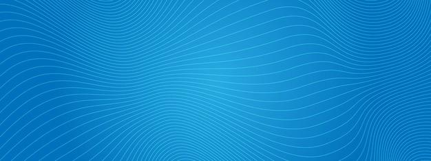 Sfondo astratto con linee ondulate curve. illustrazione vettoriale per il design. onda dalle linee