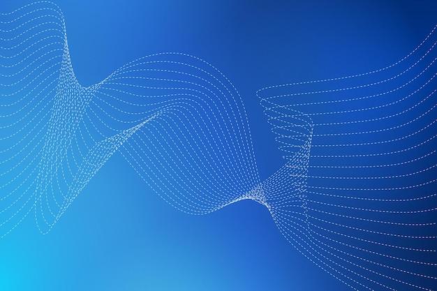 Sfondo astratto con linee ondulate curve illustrazione vettoriale per il design