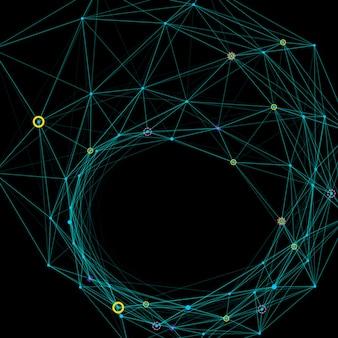 Sfondo astratto con griglia punteggiata e celle triangolari