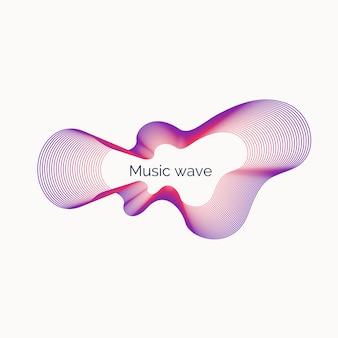 Sfondo astratto con onde di musica dinamica. .
