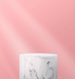 Sfondo astratto con podio in marmo vuoto in stile minimalista.
