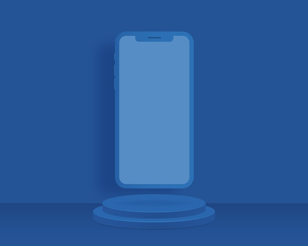 Sfondo astratto con forme geometriche e smartphone. design per la presentazione del prodotto.