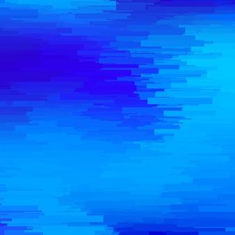 Sfondo astratto con linee blu orizzontali casuali di trama di distorsione effetto glitch