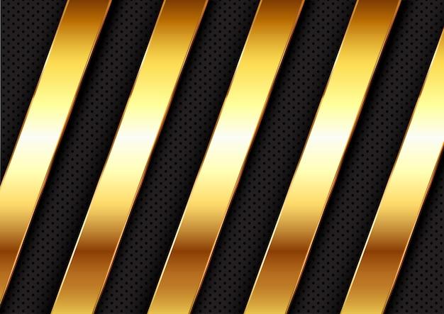 Sfondo astratto con barre metalliche oro design
