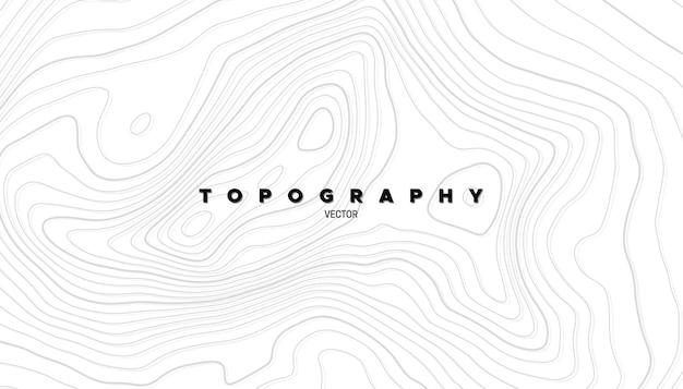 Sfondo astratto con rilievo topografico lineare
