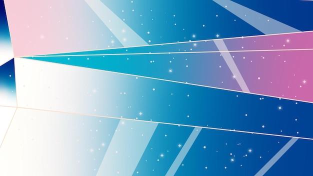 Sfondo astratto con linee cielo notturno astrazione cosmica illustrazione con stelle e cristalli