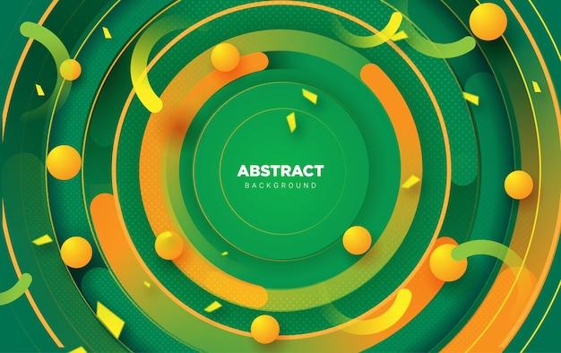 Sfondo astratto con un concetto moderno in modelli vettoriali di colore verde fresco
