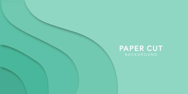 Sfondo astratto con forme tagliate di carta