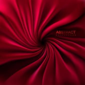 Sfondo astratto con tessuto roteato rosso