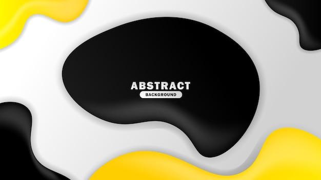 Sfondo astratto con semplice modello fluido grigio e giallo
