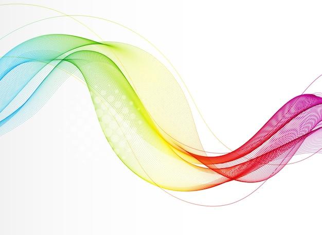 Sfondo astratto con onda di colore uniforme. linee ondulate trasparenti