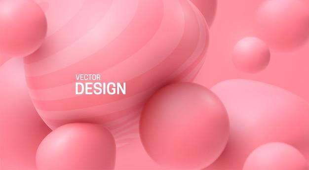 Sfondo astratto con morbide bolle rosa