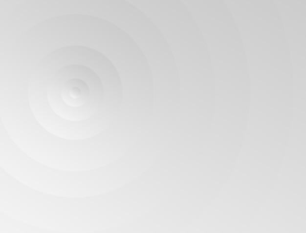 Sfondo astratto con cerchi impilati con gradazione bianca che sembra bellissima