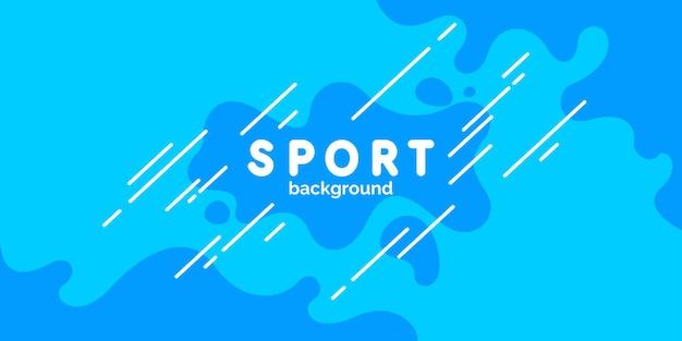 Sfondo astratto con linee rette e schizzi illustrazione vettoriale brillante per lo sport