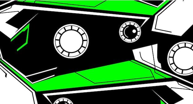 Sfondo astratto con tecnologia moderna o tema racing