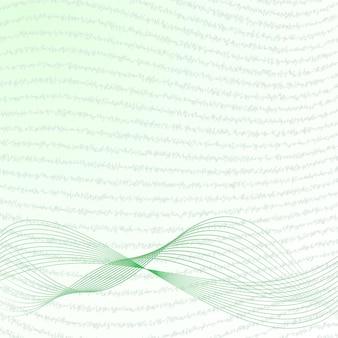 Sfondo astratto con onde e scarabocchi in verde