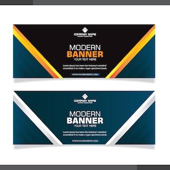 Collezione astratta di banner con forme moderne