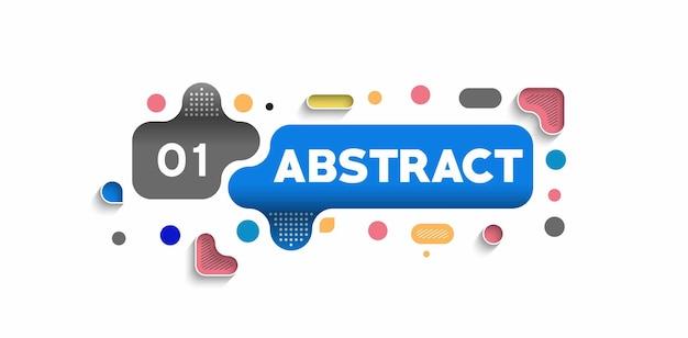 Poster banner astratto con lo spazio del testo, illustrazione vettoriale forme di progettazione.