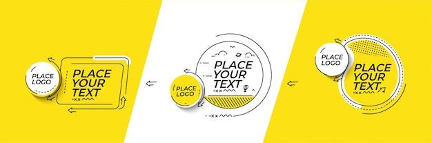 Banner astratto con portfolio calligrafico line art testo poster con lo spazio del tuo testo