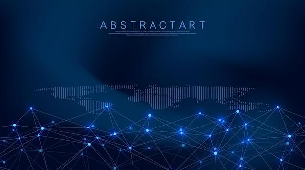 Connessione di rete digitale di visualizzazione di big data astratta.