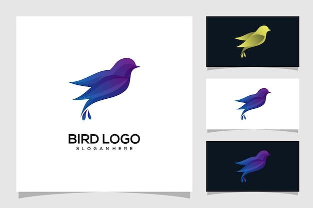 Illustrazione di logo uccello astratto