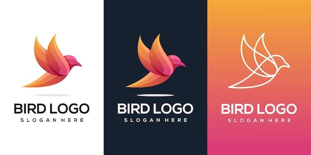 Logo astratto uccello