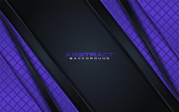 Astratto sfondo nero con elemento viola con sovrapposizione testurizzata