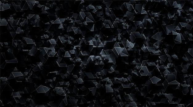 Colore nero astratto del modello geometrico di tecnologia moderna