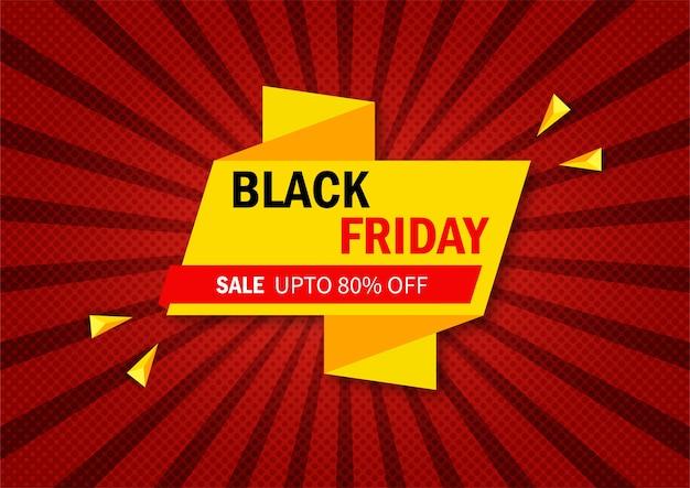 Concetto astratto banner promozione vendita venerdì nero