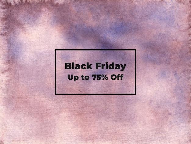 Abstract black friday acquerello pennello ombreggiatura texture di sfondo