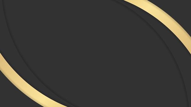 Astratto sfondo di lusso nero e oro per lo sfondo della presentazione