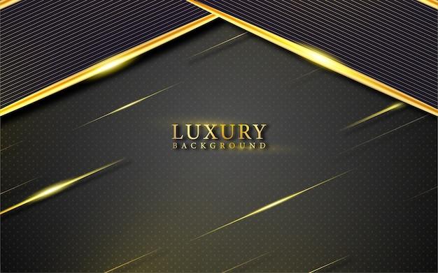 Fondo di lusso nero e oro astratto