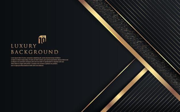 Fondo scuro del triangolo nero e oro astratto
