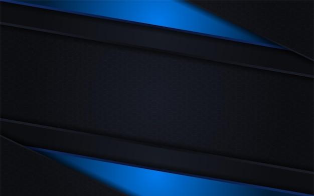 Disegno astratto di combinazione di linee nere e blu sfumate